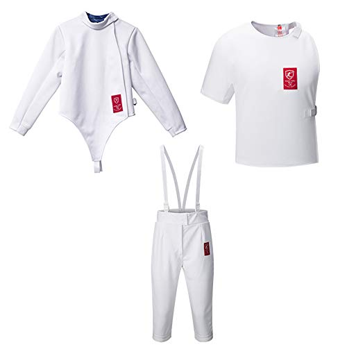 350NW Fencing Uniform Suit,Fencing Jacket Vest Pants Set(Right Hand) (Female 42)