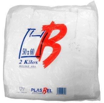 Plasbel Bolsas de Plastico Asa Camiseta (50 x 60 cm. (2 kg (