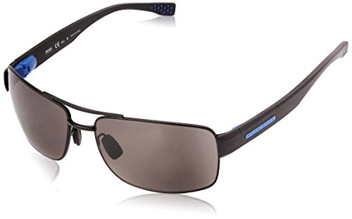 Hugo Boss Herren 0801/S 6c Sonnenbrille, Schwarz (Nero), 63