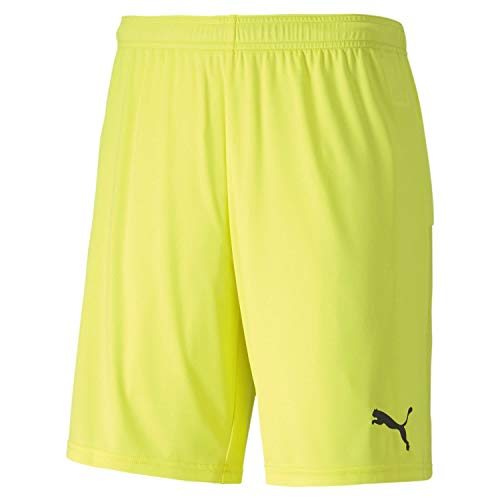 PUMA Herren teamGOAL 23 Knit Shorts, Fluo Yellow Black, S