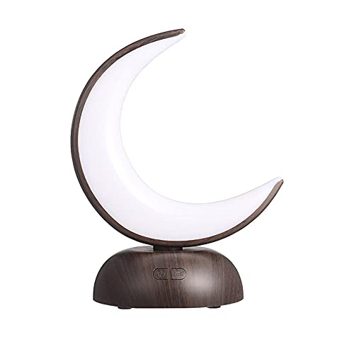 Lámpara de mesa de la mesa de la luna de la luna de la luna de la luna de la luna LED de la luna LED de la Luz de la Luz recargable para el dormitorio Dormitorio Desktop Desktop-negro_1