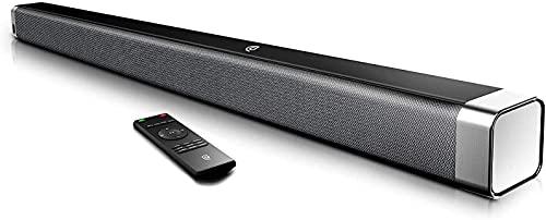 BOWMAKER Tech Soundbar TV 2.0 canali, soundbar wireless Bluetooth 5.0, audio surround home cinema, tocco e telecomando - ODINE I