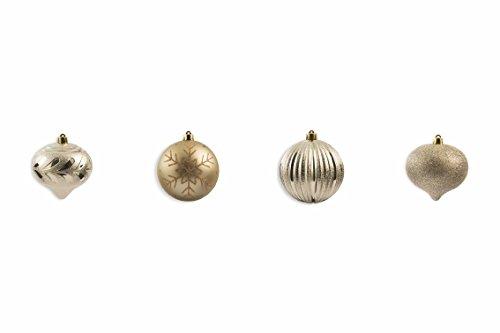 Galileo Casa Champagne Set kerstballen, beige, 10 x 10 x 10 cm, 4 stuks