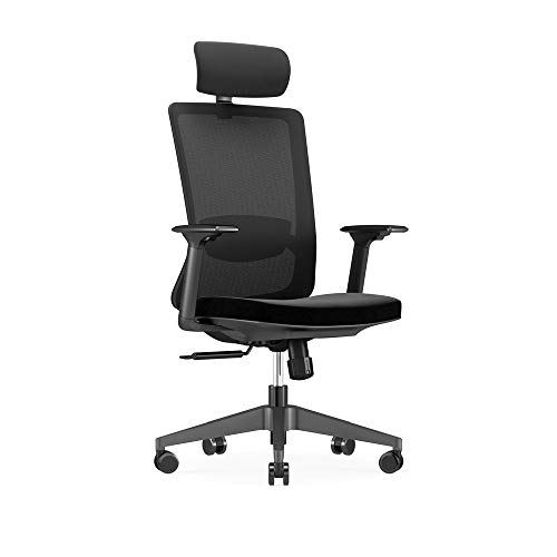 Benzoyl Ergonomic Office Chair,Ergonomic Swivel Executive Office Desk Chair Mesh Desk Chair Swivel Executive Computer Chair with Breathable mesh Design, Black