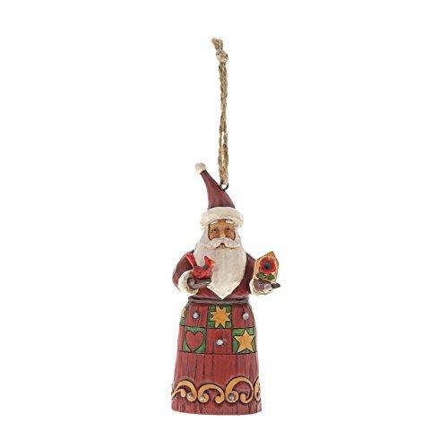 Heartwood Creek Folklore Santa met vogelhuisje, hangend ornament