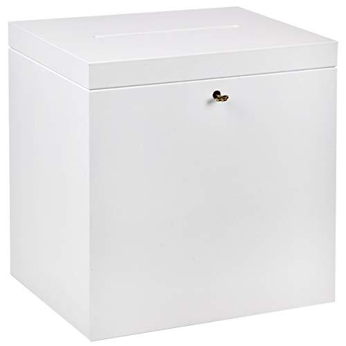 Einwurfbox 17 Liter Urne Holzkiste Holzbox Schloß Visitenkartenbox Sammelbox