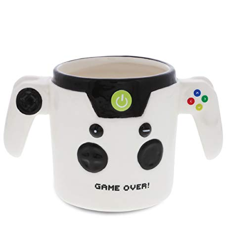 Mugniv Game Over Controller Novelty Mug: Ceramic Coffee Mugs & Tea Cup, Unique & Fun Cool Mug for Gamers, Coffee Lovers Gifts, Kids Mugs For Hot Chocolate, Video Game Decor Kitchen Cups - 12.4 Oz.