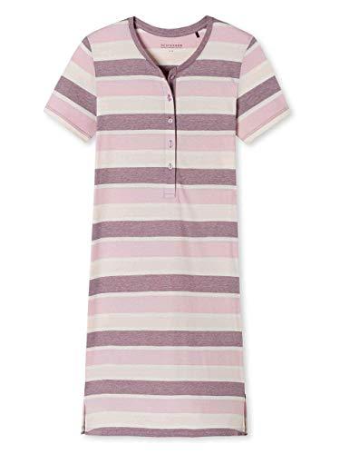Schiesser Damen Sleepshirt 1/2 Arm, 95Cm Nachthemd, Rot (Beere 512), 42 (Herstellergröße:042)