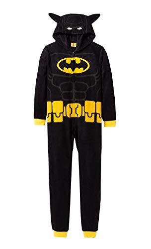 Batman Boys Hooded Pajama one piece Union Suit (Medium 8)