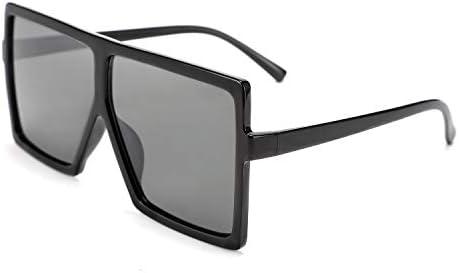 FEISEDY Women Square Oversized Sunglasses One Piece Fashion Female Big Large Frame UV400 B2539 product image
