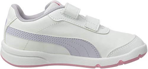 PUMA STEPFLEEX 2 SL VE V PS, Zapatillas Unisex niños, Blanco White/Purple Heather/Peony, 31 EU