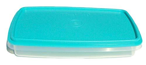 Tupperware Deli Keeper Slim Line Sheer Container Blue Seal