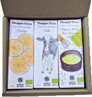 People Tree  チョコギフトセット(オレンジ、ミルク、抹茶) お年賀シール付き  50gx3