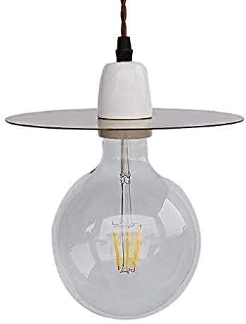 HLY Candelabro simple, lámpara colgante, luz, candelabro, luz de techo, latón, cobre retro E27, cerámica, colgante, nórdico, creativo, restaurante, comedor, cocina, granero, almacén, suspensión, lumi