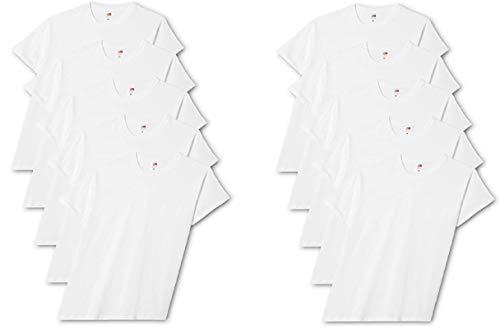 Fruit of the Loom Original T., T-Shirt Uomo, Bianco (White 30), X-Large(Pacco da 5)