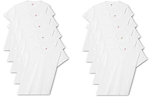 Fruit of the Loom Original T., T-Shirt Uomo, Bianco (White 30), Medium(Pacco da 5)