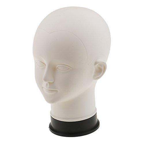 MagiDeal Weiß Kind Schaufenster Dekokopf Kind Mannequin Modellkopf - Hüte Mütze Brille Ständer Perückenständer
