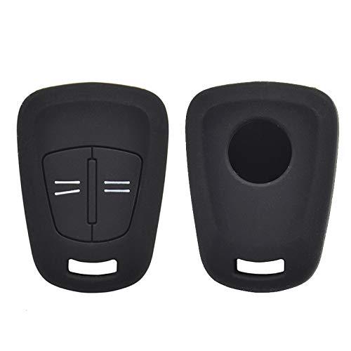 XUKEY Funda de Silicona para Llave de Coche con 2 Botones para Opel Corsa Agila Meriva