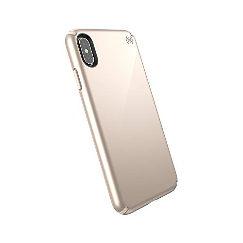 Speck Products Presidio Metallic iPhone Xs Max Case, Nude Gold Metallic/Nude Gold