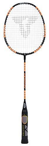 Talbot Torro Lern-Badmintonschläger ELI Advanced, reguläre Schlägerlänge 66,5cm, Lerngriff, Iso-Kopf, ideal für Spieler ab 10 Jahren bis zu Erwachsenen, schwarz-gelb-orange, 419615