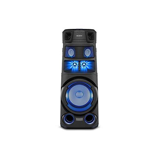Sony MHC-V83D - Altoparlante Bluetooth All in One con JET BASS BOOSTER, Effetti Luminosi, Lettore CD, USB, Nero