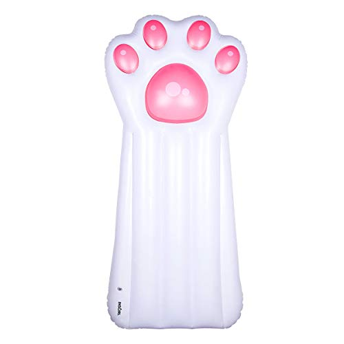 Pool Float Inflatable Swim Pool Floats Pink Cat Paw Water Raft Float Toys Large Blow Up Summer Beach Swimming Lounger Float Party Toys Lounge Raft for Adults Kids