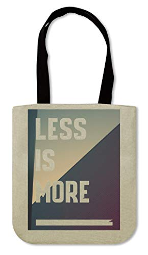 Less is more Aesthetics Cool phrases collection Minimalistic Shapes Bolsa de lona de compras