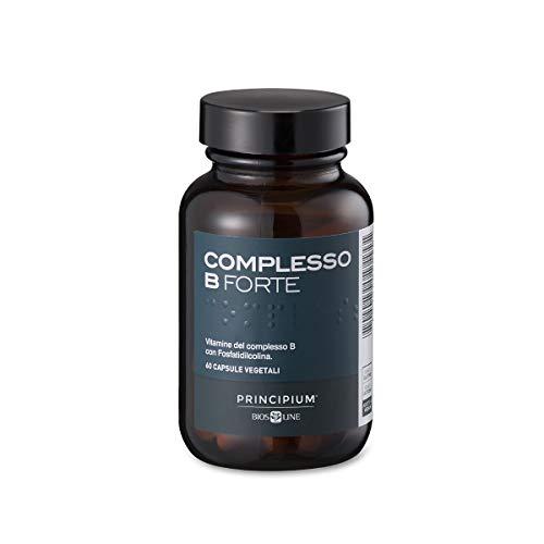 BIOS LINE Principium Complesso B Forte, Integratore energizzante composto dalle vitamine del gruppo b, Integratore compresse per il funzionamento del sistema nervoso, 60 capsule vegetali