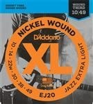 3 Sets of NEW D'Addario Limited Special Price Jazz Guitar x-lite Ranking TOP10 EJ20 Strings