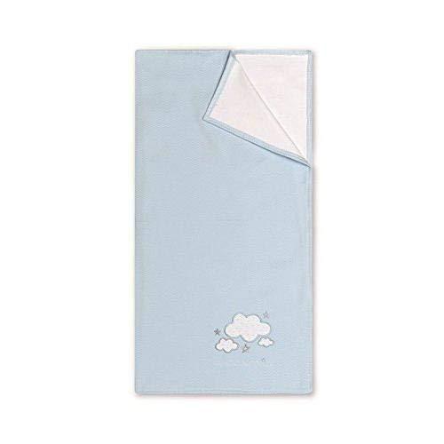Arrullo 75 x 75 cm color blanco y azul Bimbi Romantic
