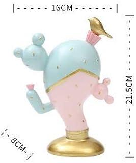 PPuujia Boîte de rangement en céramique pour bijoux de bureau Motif cactus Pokémon Couleur : gris clair