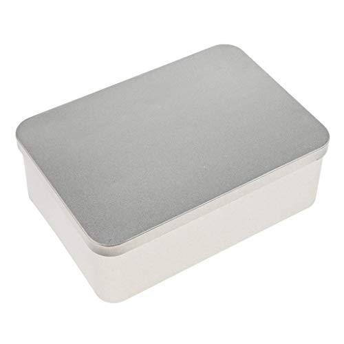 Seastart Small Metal Tin Tobacco Tin Pill Box Soap Tin With Hinged Lid Silver