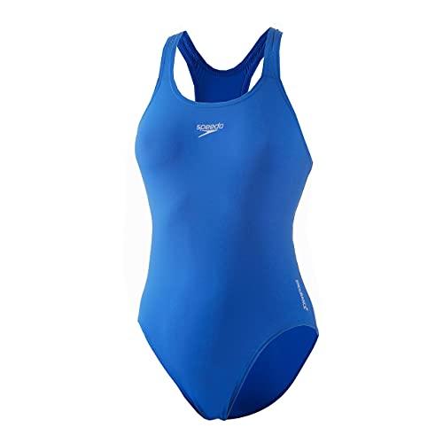 Speedo Endurance + Estampado Medalist Bañador, Adult Female, Neon Azul, 34