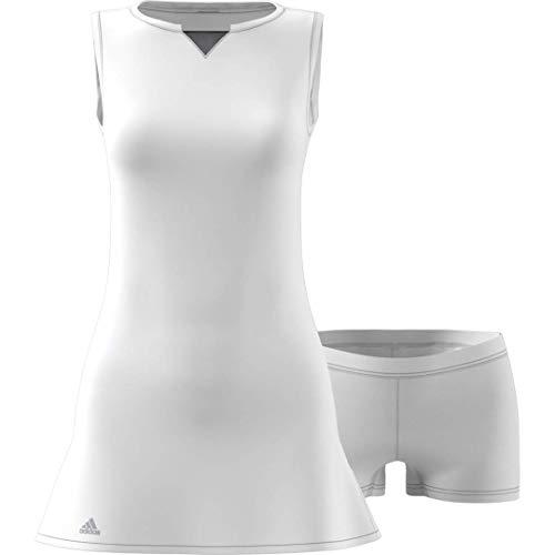 adidas Vestido de Tenis para Mujer, Mujer, Vestido, S1907W515, Blanco, M
