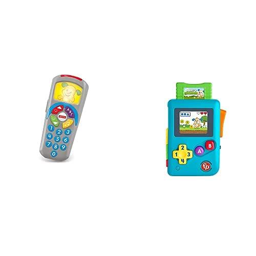 Fisher-Price Mando a Distancia Perrito, Juguete Electrónico Bebé +6 Meses (Mattel DLD35) y Ríe y Aprende Videoconsola de Juguete con Sonidos (Mattel HBC82)
