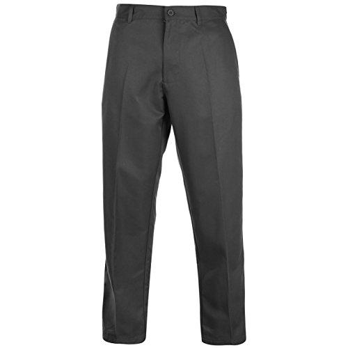Slazenger - Pantalones de golf para hombre, con cremallera, corte estándar - Gris - 36W x 29L corto
