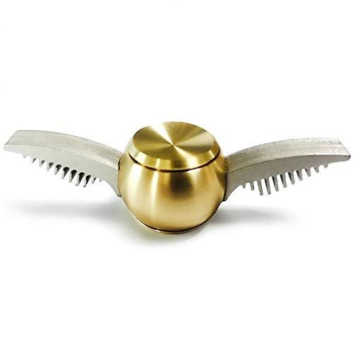 17Tek Fidget Spinner mit silberfarbenem Flügel, goldfarben