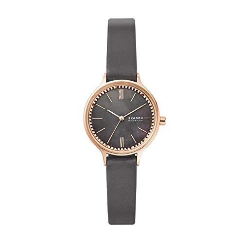 SKAGEN Reloj Analógico para Señoras de Cuarzo con Correa en Cuero skw2909