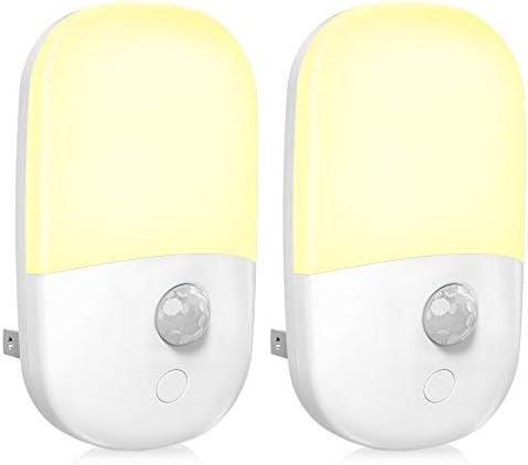 MAZ TEK Plug in Motion Sensor Dimmable Night Light Soft Warm White LED Nightlight with Dusk product image
