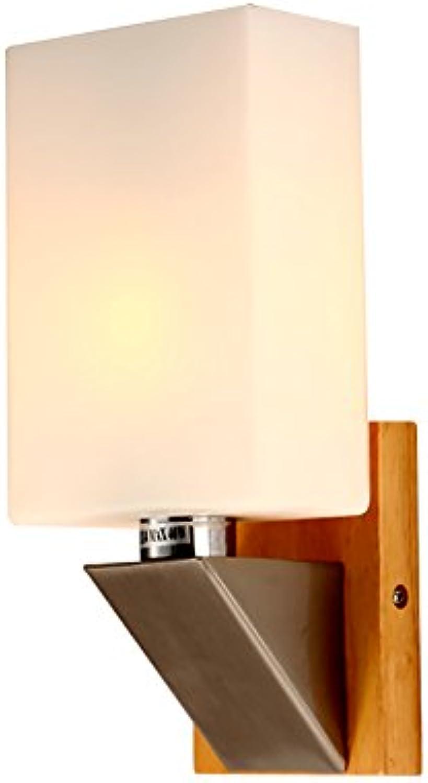 &Wohnzimmer Flur Schlafzimmer Wandleuchte Schlafzimmer Nachttischlampen, Massivholz Wandleuchte Wohnzimmer Lichter Einfache Wandleuchten Korridor Lichter, E14 &Kabellose Wandleuchte
