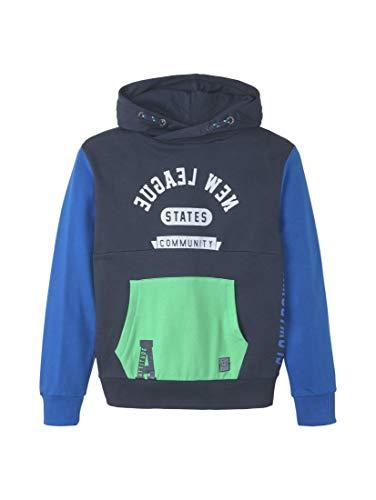TOM TAILOR Jungen Strick & Sweatshirts Patchwork Hoodie Dress Blue|Blue,140