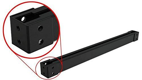 60x60mm C Profil Stahl Laufschiene Stahlstütze Säule Profilschiene mit Fußplatte (Länge: 1200 mm)