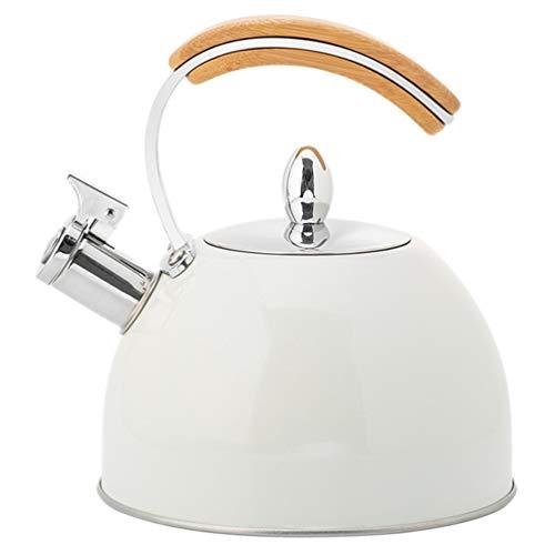 YARNOW Tee Wasserkocher Herd Tee Topf Herd 3 Quart Pfeifen Tee Wasserkocher Edelstahl Heißer Wasser Teekanne Heizung Wasser Behälter mit Griff für Home Gaskochfeld