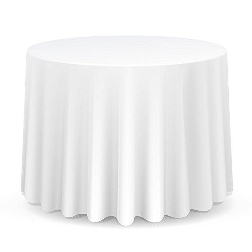 Wedding Decor Rund Baumwolle Polyester Tischdecke Abdeckung für Hochzeit, ESS und Geburtstagsparty 108 Inches von Hochzeit Stromversorgung - Einzel, White