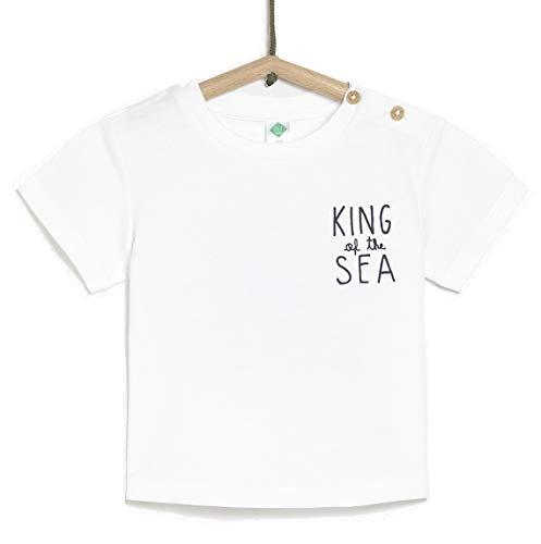 TEX - Camiseta de Manga Corta para Bebé, Blanco Neutro, 36 Meses