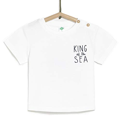 TEX - Camiseta de Manga Corta para Bebé, Blanco Neutro, 18 Meses