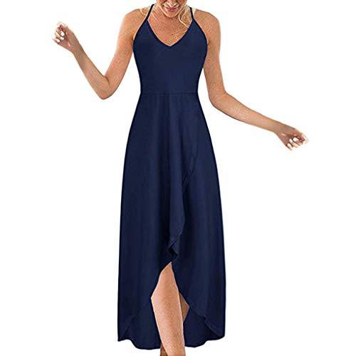 TUDUZ Vestido Mujer Sin Mangas Verano Blusas Color sólido Vestidos De Tulipán