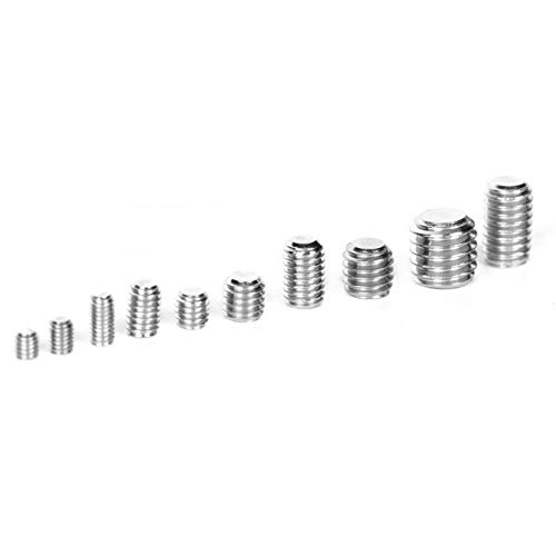 YUNJINGCHENMAN - Juego de tornillos hexagonales para tornillos M3, M4, M5, M6, M8, acero inoxidable, 220 unidades