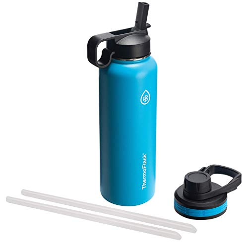 Thermoflask Double Stainless Steel Insulated Water Bottle, 40 oz, Capri