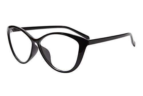 SHINU Anti Blue Ray Computer Reading Glasses TR90 Cateye Women's Progressive Multifocus Reading Glasses-RMG5865(nero,anti blue-su 0 giu 1.75)